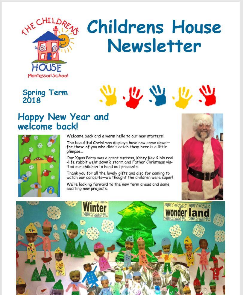 Childrens House Spring Term 2018 Newsletter