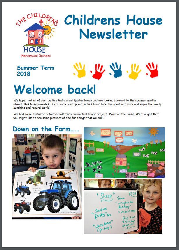 Childrens House Summer Term 2018 Newsletter