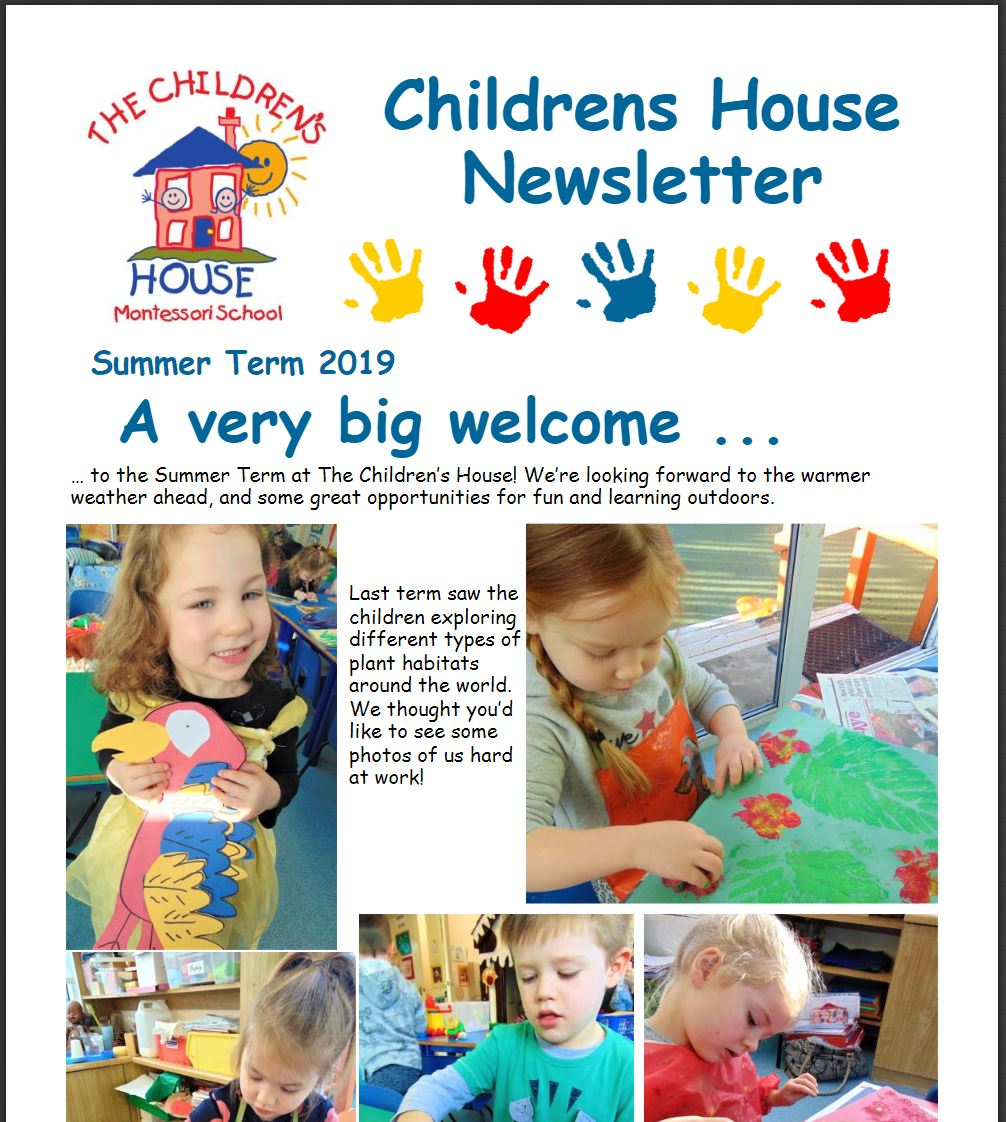 Childrens House Summer Term Newsletter
