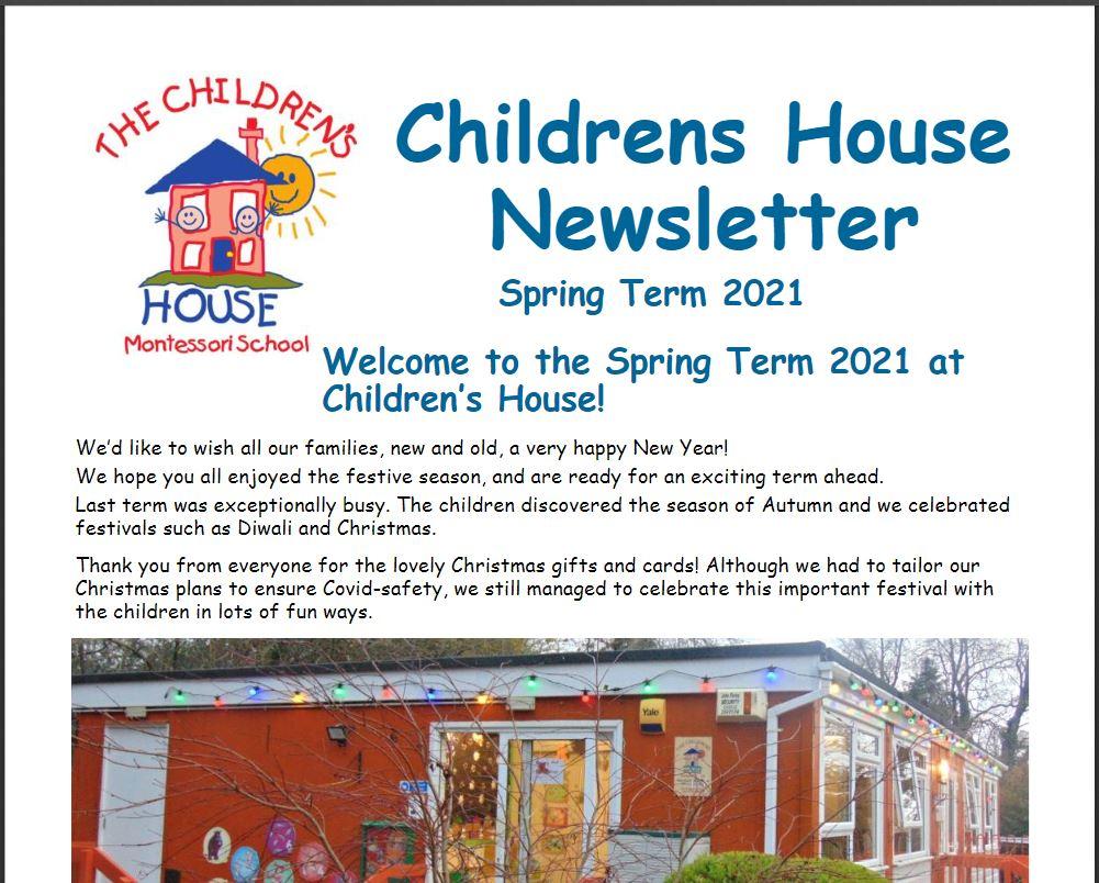 Childrens House Spring Term Newsletter