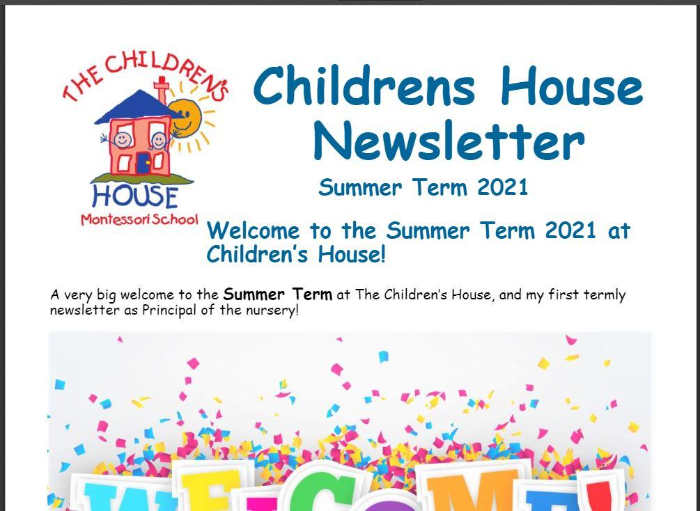 Childrens House Summer Term Newsletter