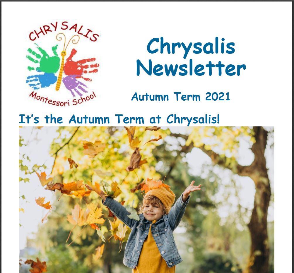 Chrysalis Autumn Term Newsletter 2021