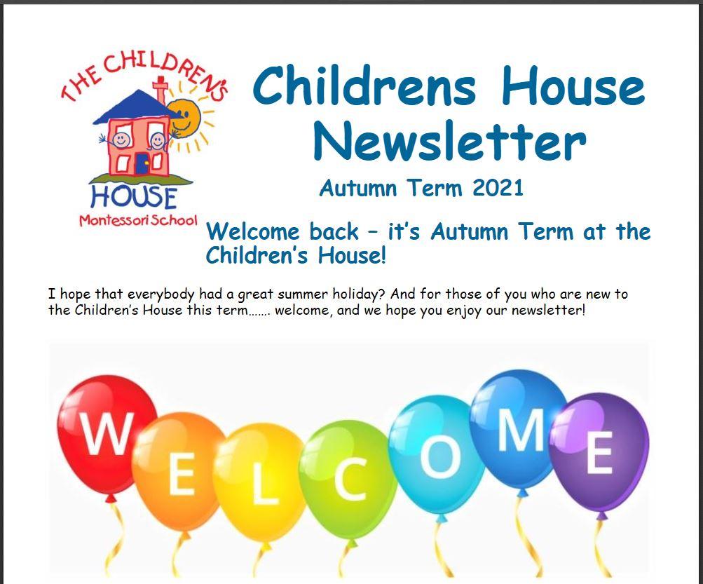 Childrens House Autumn Term Newsletter 2021